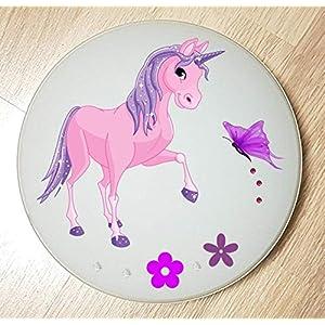 Deckenleuchte/Wandlampe * Einhorn Unicorn Pferd 3 * auch LED – mit/ohne Name