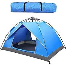 Outdoor 2-3 Person Pop Up Tents Sports Camping Senderismo Tienda de viaje con bolsa de transporte (azul)