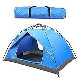 Extérieur 2-3 personnes Pop-up Tentes Sports Camping randonnée tente de voyage avec sac de transport (Blue)