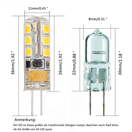 minger 2 5w g4 led lampen ersatz f r 20w halogenlampen 180lm warmwei 3000k 2835 smd. Black Bedroom Furniture Sets. Home Design Ideas