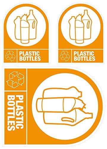 Etiquetas autoadhesivas reciclaje: Botellas plástico