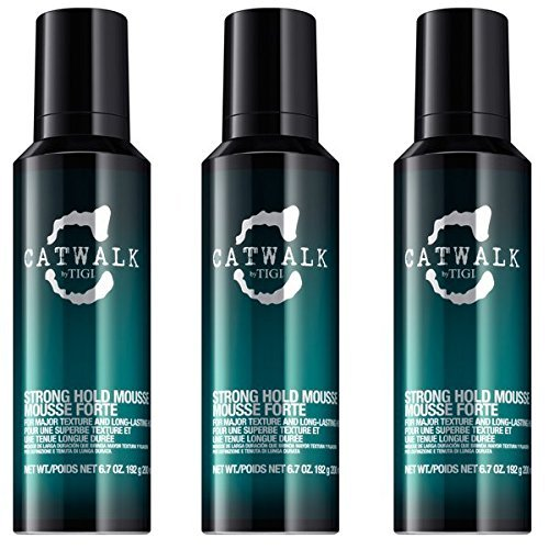 TIGI catwalk Strong Mousse 200ml (3 PEZZI)