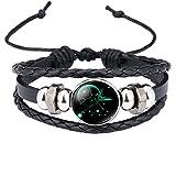 Caimeytie Kind Armschmuck Leder Wickelarmbänder Verstellbar Horoskop Sternzeichen Schütze