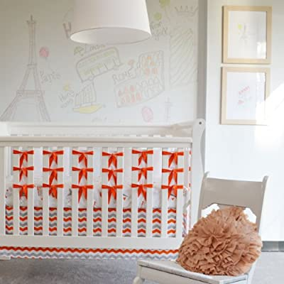 Oliver B OBC0100 Ciudad de los Sue-os 3-Piece Crib Bedding Set - Orange