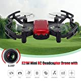 Dailyinshop F21W Mini RC Quadcopter Drone mit 0.3MP Kamera Höhe Halten Headless Modus, rot