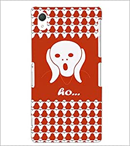 PrintDhaba Ghost Pattern D-5878 Back Case Cover for SONY XPERIA Z2 (Multi-Coloured)