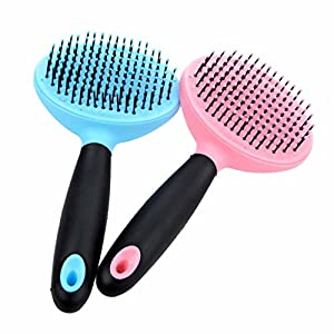 CS 2 Combinaisons Animaux Peigne Peigne Chien Brosse en Plastique Prévenir Électrique Statique Massage Peau Nettoyage Cheveux Est Pratique