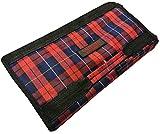 Deluxe plegable bolsa de la compra ligero sobre ruedas con bolsillo frontal y cierre de cremallera Red Check