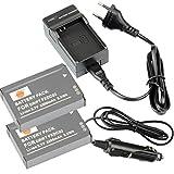 DSTE®(2 Pack)Ersatz Batterie und DC143E Reise Ladegerät Kit for DRIFT FXDC02 HD GHOST DSLR Digatal Kamera