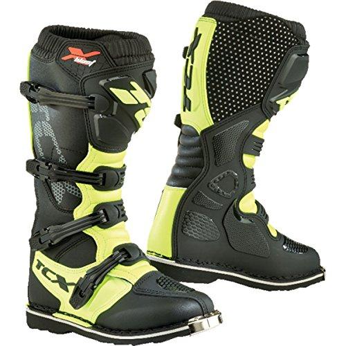 TCX x-blast motocross stivali, 9670-YEFL-44, Black Yellow Fluo, UK 9.5