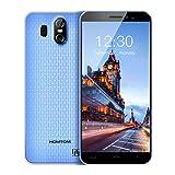 HOMTOM S16 3G Smartphone Ohne Vertrag Android 7.0 5,5 Zoll Display(18: 9) Quad Core Dual SIM 2GB RAM+16GB ROM 8MP+2MP+5MP Kameras Fingerabdrucksensor(Blau)