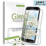Youer Galaxy S7 Edge Panzerglas Schutzfolie, [2 stück] HD Ultra Klar Gehärtetem Glas Displayschutzfolie, Anti-Kratzer, 9H Härte, Anti-Fingerabdruck für Samsung Galaxy S7 Edge - Transparent