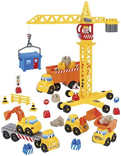 Jouets Ecoiffier - 3020 - Chantier Abrick - Jeu de construction pour enfants - Dès 18 mois - Fabriqué en France