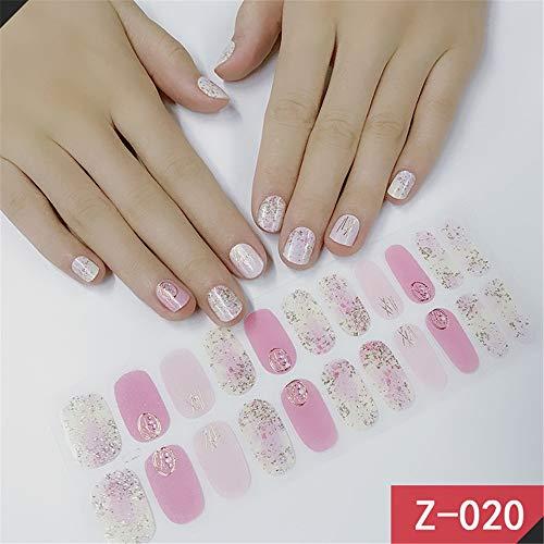 JUZEN Nagelaufkleber selbstklebend rot Verschiedene Muster von 3D-Mode wasserdicht langlebig tragbare Nail Art Dekoration, 4 Blatt,Z20