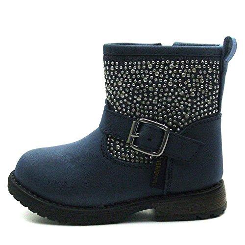 SB171 Studio BIMBI Baby Boots w/zip Mid Calf for Girls >      > Bébé Bottes w / zip Mi-mollet pour les filles Blue (bleu)