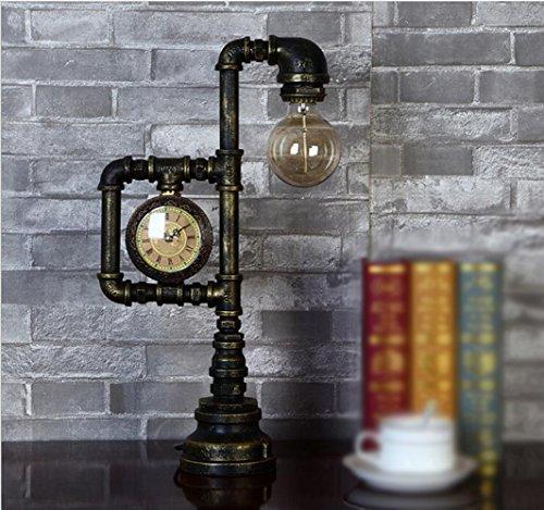 Xiaotian Schreibtisch Akzent Lampen Industrie Retro Rost Eisen Antik Steampunk Lampenschirm Für Bett Seite Lesen,Usplug -