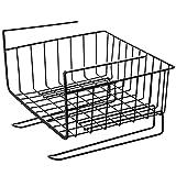 Foreweilai Regal Ablagekorb,Hängekorb aus Metall Aufbewahrungs-Korb Unterbau-Regal für Küchenschränke Kleiderschränke - (Schwarz)