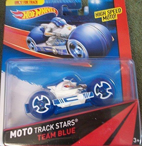 Hot Wheels Moto Track Stars TEAM BLUE by Mattel