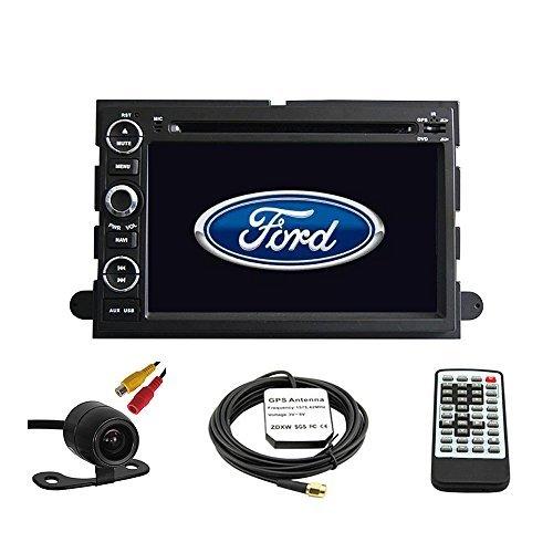 tltek® Auto GPS Navigation System für Ford Fusion 2006–2009/FORD EXPLORER 2006–2010/FORD MUSTANG 2005–2009/FORD F1502004–2010/F250F3502005–2014/F4502008–2013/FORD FOCUS 2004–2007/FORD EDGE 2007–2010/FORD EXPEDITION 2007–2014/Ford Taurus 20082009Doppel DIN Auto Stereo DVD-Player 17,8cm LCD Touchscreen TFT Monitor-INDASH DVD Video Empfänger mit integriertem Bluetooth-tv Radio, unterstützt Factory Lenkradfernbedienung, frei Kamera + EU Karte