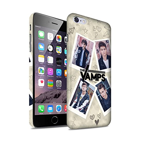 Offiziell The Vamps Hülle / Matte Snap-On Case für Apple iPhone 6S+/Plus / Pack 5Pcs Muster / The Vamps Doodle Buch Kollektion Mappe