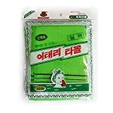 Genuine Korean Exfoliating Scrub Bath Mitten 20pcs -14 cm x 15 cm (5.5 inch x 5.9 inch) Green by Zombie Workers