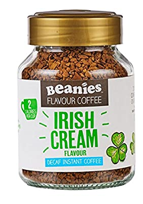 Beanies Decaf Irish Cream Flavoured Instant Coffee 50 g (Pack of 6) from Beanies Coffee