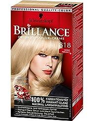 Brillance Intensiv-Color-Creme, 818 Nordic Perlmutt, 3er Pack (3 x 1 Stück)
