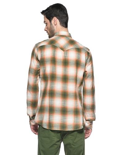 Diesel Camicia Sulphurr Verde/Arancione