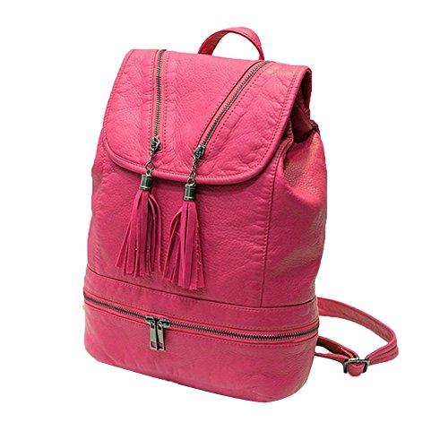 Tellw donna Leisure Travel shopping mini zaino, Donna, Black, 26cm*13cm*35cm Rose