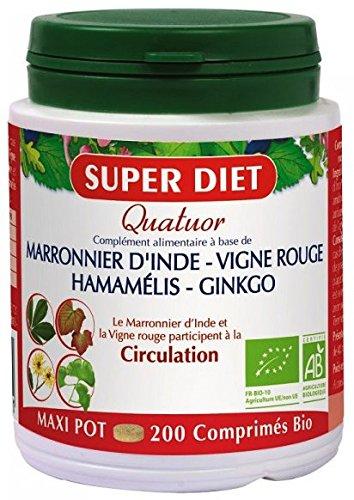 Super diet - Quatuor circulation - comprimés 200 - Pour des jambes lègères