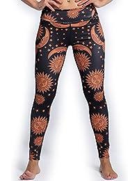 0ed62ffa072dd2 VWU Damen Ladies Große Mädchen Workout Gedruckt Printed Leggings Gym Sport  Laufen Laufhose Fashion Beiläufig Yoga Leggins Hose…