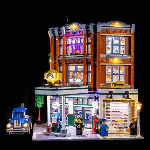 MAJOZ LED Licht-Set Für Baustein Spielzeug, Beleuchtung Kit Kompatibel Mit Lego Creator Expert 10264 Eckgarage (Modell Nicht Enthalten)