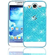 Sunroyal® Funda Samsung Galaxy Grand Neo Plus GT-I9060I Funda Case Cover Carcasa Cáscara Bling Para Smartphone PC Back Bumper Parachoque Hybrid Protective Carrying Case Cover Bling Glitter Diamante de Color Transparente Claro Soft Protector (Samsung Galaxy Grand Neo / Plus / Duos)-AZUL