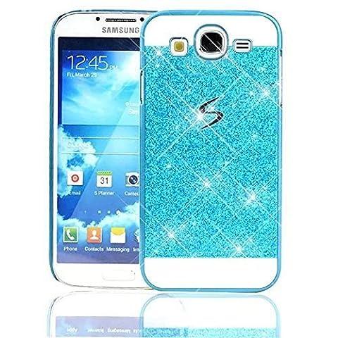 Sunroyal Samsung Galaxy S3 i9300 / S3 Neo i9301 Handy Hülle Schutz Bling Hart Case Harte Glitzer Diamant Luxus Gel Crystal Kristall Zurück Hard Back Cover Rückseite, Blau
