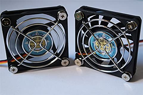 ( 2-PACK) long life with Grill Dual Ball Bearing fan Cooling fan for pc, Computer Cases, CPU Coolers, and Radiators,TV-BOX (3pin 12V, 60mm(6010))