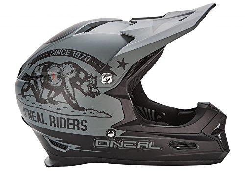 O 'Neal Fury RL  CALIFORNIA-Fahrradhelm, Mehrfarbig (schwarz / grau), XL (61 - 62 cm)
