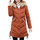 Damen Steppjacke Lang Dasongff Leichte Daunenmantel Warm Wintermantel Solide Lässig Dicker Winter Slim Down Jacke Mantel Frauen Outwear
