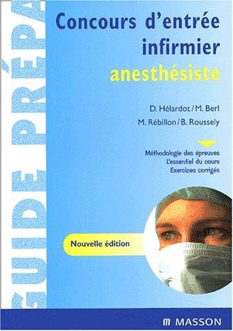 Concours d'entrée infirmier anesthésiste