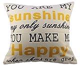 """nunubee Baumwolle/Leinen Home Decor Werfen Sofa Auto Kissenbezug Kissen Fall Tree 3, Baumwolle / Leinen, sunshine, 45cm*45cm/18""""*18"""""""