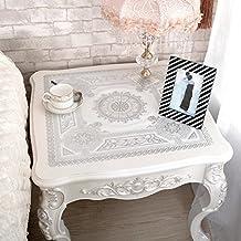 mesita de noche/ a prueba de polvo amortiguador/PVC tipping mantel/Disponible evitar planchar manteles pequeños/ manteles cuadrados/Almohadilla de mesa de comedor de estilo europeo-B 50x50cm(20x20inch)