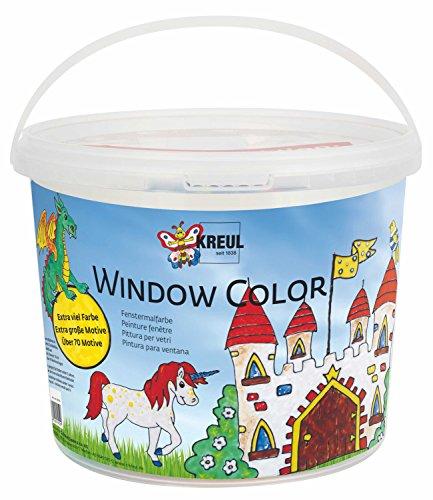 fenstermalfarben Kreul 40155 - Kinder-Bastelset, Window Color C2, Power Pack