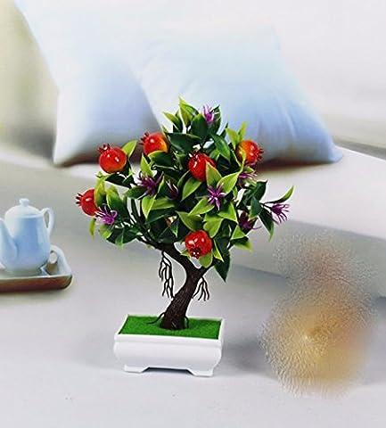 DSAAA Fake Blumen künstliche simulation topf setzen,inneneinrichtungsgegenstände wohnzimmer dekoration,roter