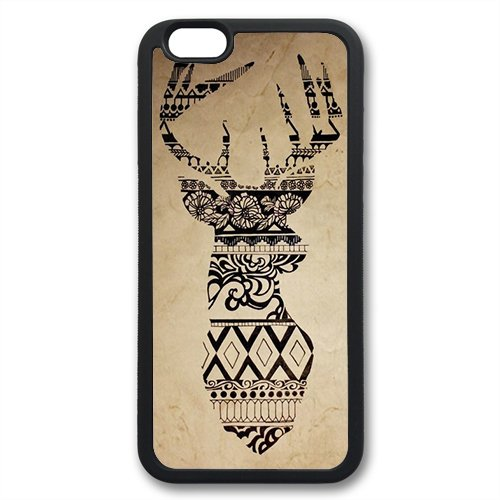 Coque silicone BUMPER souple IPHONE 6 Plus - Aztec tribal Azteque motif 2 DESIGN case+ Film de protection OFFERT