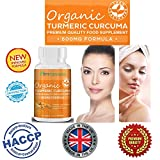 HIGH QUALITY Organic Turmeric Curcumin.★ Extra Strength for Pain Relief & Joint Support★ Enhance Immune System, and Metabolism ★ Supports Healthy Cardiovascular Function ★ Natural Weight Loss Effect.★-High Potency Organic Turmeric Supplements.★ Our Tumeric powder with curcumin Tablets is suitable for Vegerians.★ Non-GMO , Made in the UK