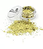 Gold Chunky Festival Glitter *Cosmetic Glitter for festival faces and bodies and sparkling glitter hair and nails *