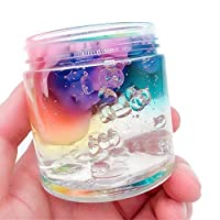 Dkings Beautiful Slime Crystal Mud Rainbow Mixed Cloud Color Slime Decompression Toy Squishy Putty Scented Stress Kids Crystal Clay Toy