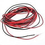 SODIAL (R) 2 Cables electricos 3m silicona flexible 1.6mm No.22 Rojo Negro