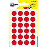 Avery España PSA15R - Pack de 168 gomets, color rojo