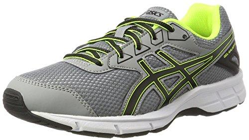 Asics C626N9690, Zapatillas de Running Unisex Niños, Plateado (Aluminum/Black/Safety Yellow), 39 EU