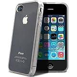 itronik Hülle kompatibel mit iPhone 4 4S TPU Hülle Schutzhülle Crystal Case Durchsichtig Klar Silikon transparent
